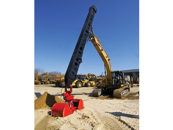 Excavator with Telescopic Sticks for Vertical Digging
